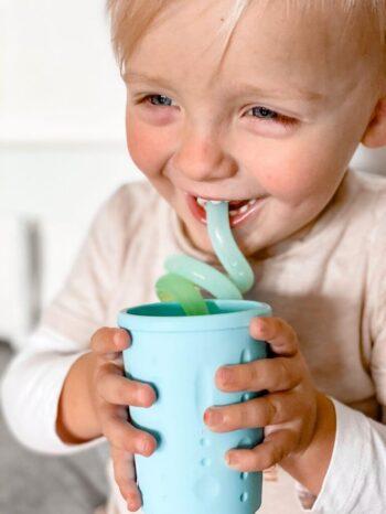 Twirly kids straws