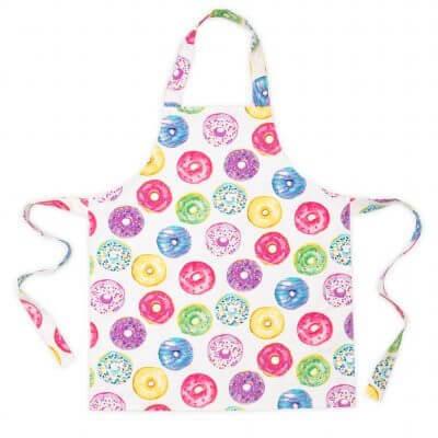 Doughnut print kids apron