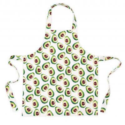 Avocado print kids apron