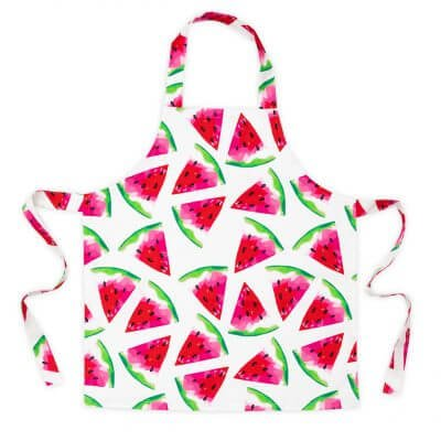 Watermelon print kids apron
